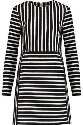 GOEN.J Flocked silk-blend mini dress