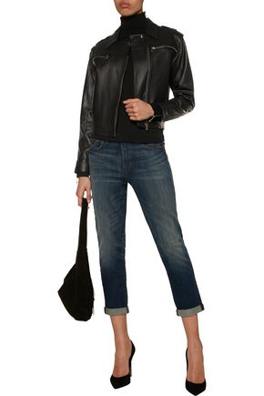 J BRAND Maisie leather biker jacket
