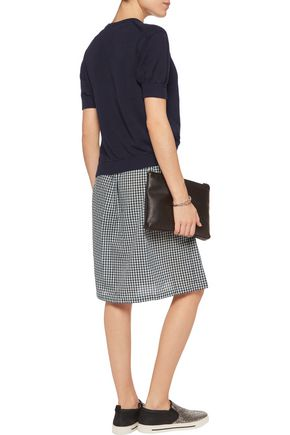 MARC BY MARC JACOBS Layered stretch-knit and gingham voile dress