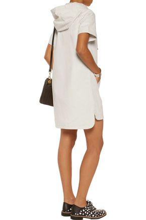 MARC BY MARC JACOBS Cotton-twill hooded mini dress