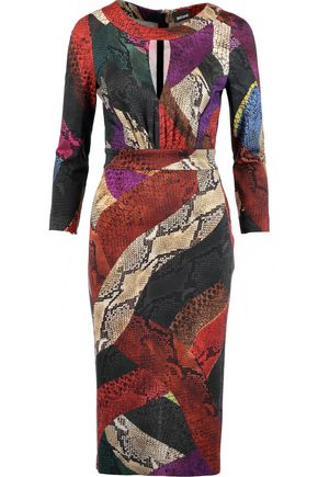 JUST CAVALLI Printed stretch-jersey dress