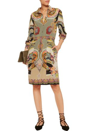 ETRO Printed silk-crepe dress