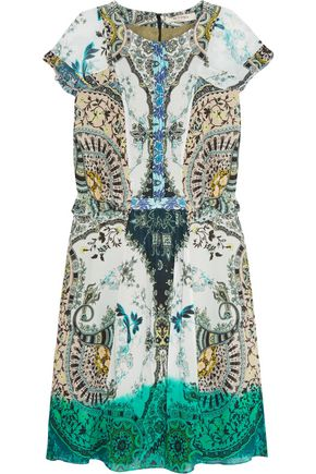ETRO Printed silk-chiffon dress