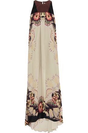ETRO Printed silk crepe de chine maxi dress