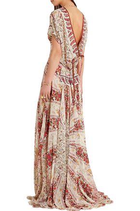 ETRO Printed silk-chiffon gown