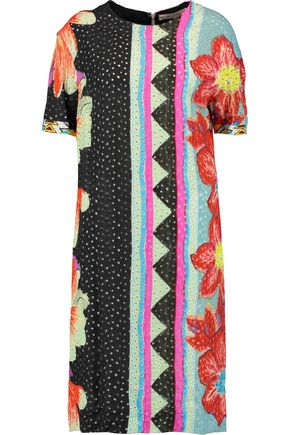 ETRO Printed broderie anglaise dress