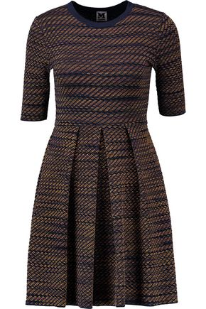 M MISSONI Pleated knitted mini dress