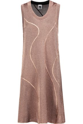 M MISSONI Fluted metallic knitted mini dress