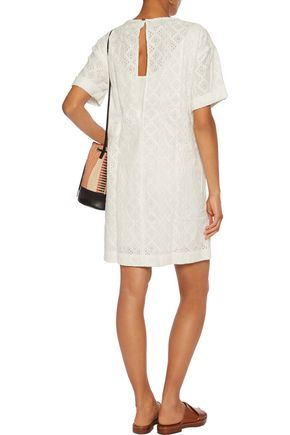 CURRENT/ELLIOTT Broderie anglais cotton mini dress