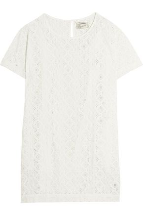 CURRENT/ELLIOTT The Eyelet broderie anglaise cotton mini dress
