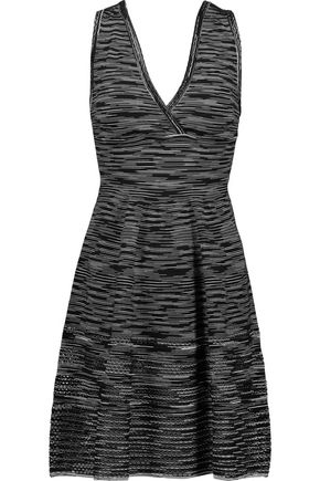 M MISSONI Striped stretch-knit midi dress
