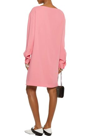 MSGM Draped crepe mini dress
