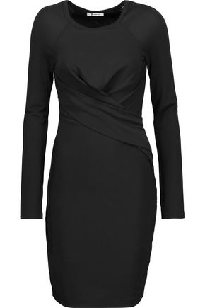 T by ALEXANDER WANG Ruched stretch-jersey dress