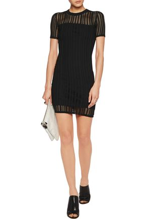 T by ALEXANDER WANG Cutout stretch cotton-blend mini dress