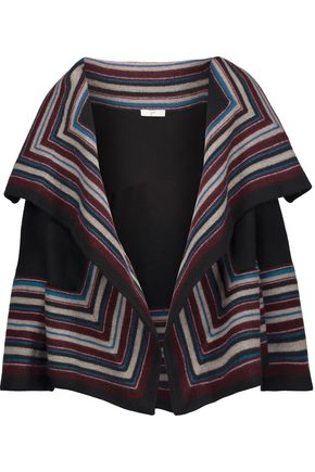JOIE Dagna draped striped wool jacket