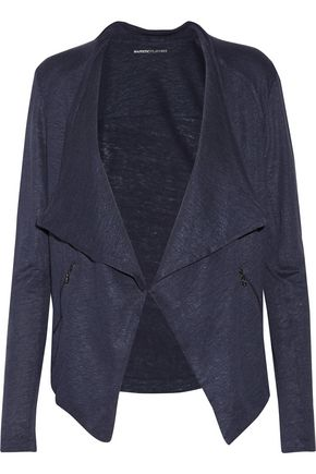 MAJESTIC Linen and silk-blend cardigan