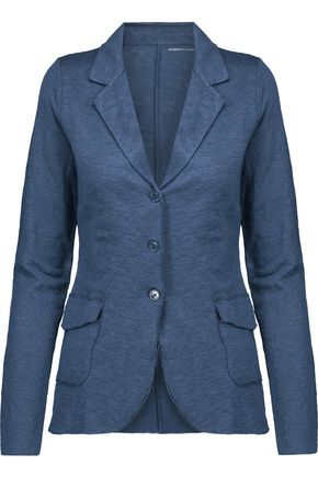 MAJESTIC Linen and silk-blend blazer