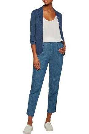 MAJESTIC Linen and silk-blend blazer