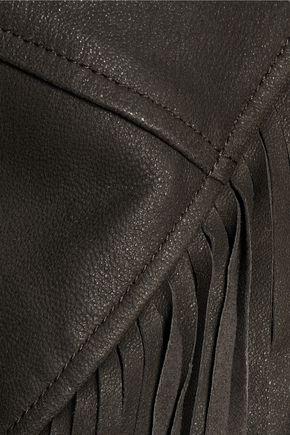 JOIE Zeno fringed leather biker jacket