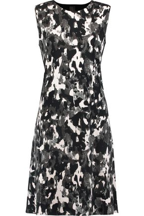NORMA KAMALI Printed ponte dress