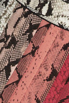 ROBERTO CAVALLI Snake-print silk dress