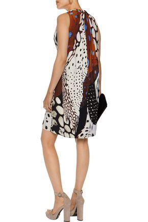 ROBERTO CAVALLI Printed crepe dress