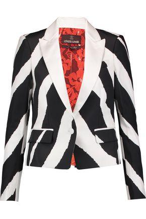 ROBERTO CAVALLI Silk-twill blazer