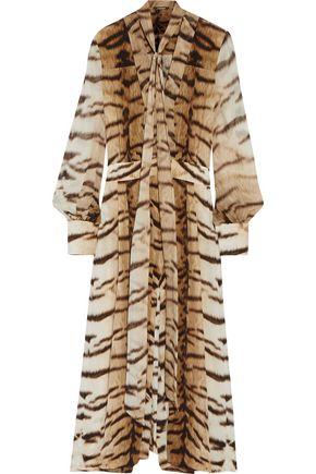 ROBERTO CAVALLI Cropped printed silk jumpsuit