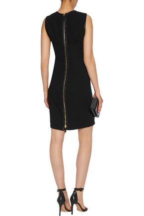 ROBERTO CAVALLI Sequin-embellished  crepe de chine mini dress