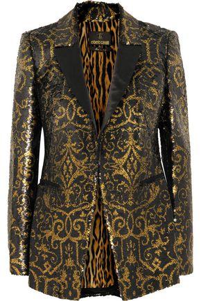 ROBERTO CAVALLI Sequined silk blazer