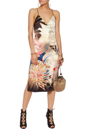 ROBERTO CAVALLI Wrap-effect silk-chiffon dress