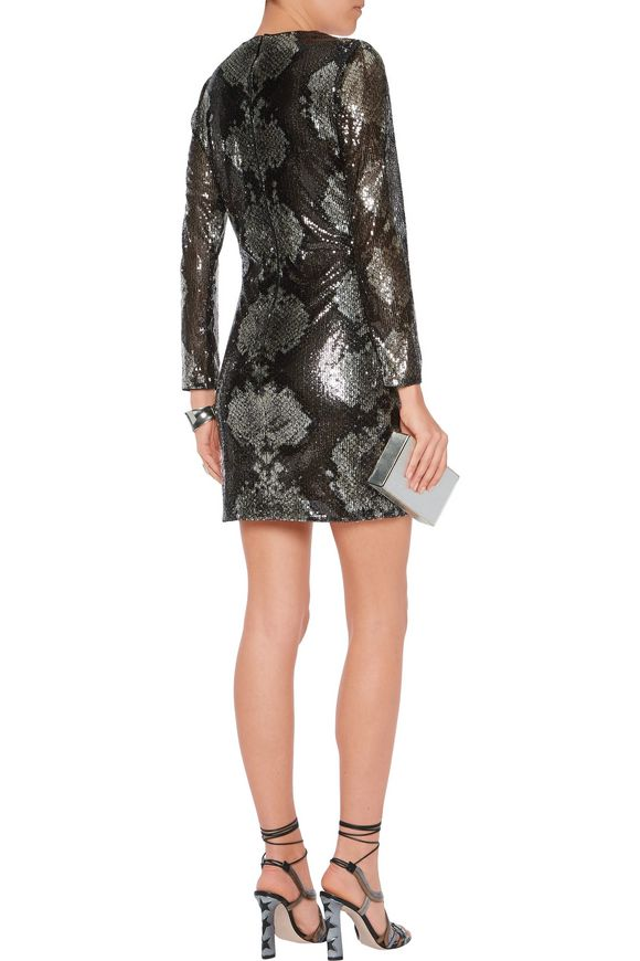 Sequinned silk mini dress | ROBERTO CAVALLI | Sale up to 70% off | THE  OUTNET