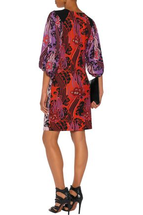 ROBERTO CAVALLI Printed crepe de chine mini dress