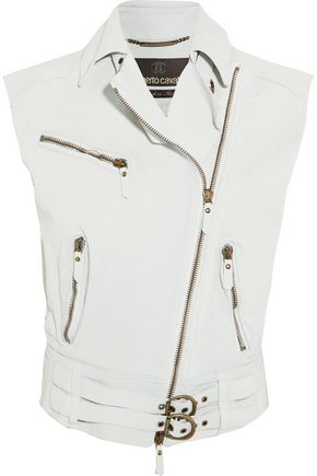 ROBERTO CAVALLI Textured-leather vest