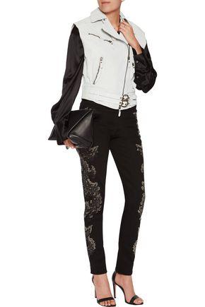 ROBERTO CAVALLI Textured-leather vest
