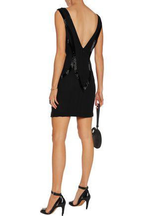 ROBERTO CAVALLI Sequined silk-chiffon mini dress