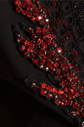 ROBERTO CAVALLI Sequin-embellished crepe dress