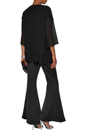 ROBERTO CAVALLI Asymmetric sequinned silk-chiffon top