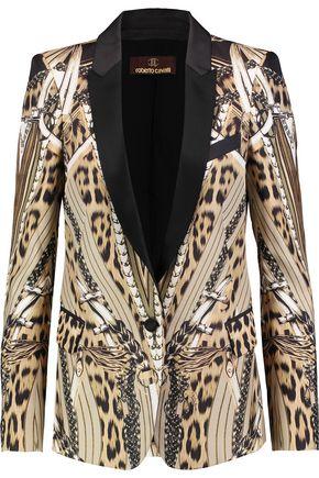 ROBERTO CAVALLI Printed silk blazer