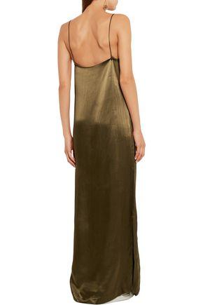 GANNI Satin maxi dress