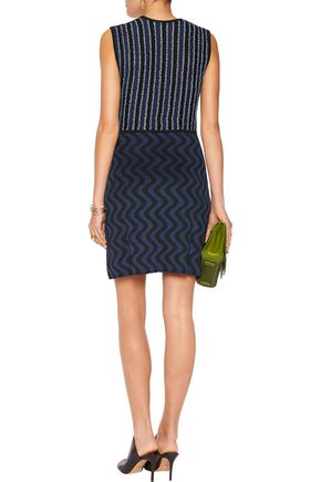 MARY KATRANTZOU Jacquard-knit mini dress