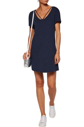 TART Nash cutout slub cotton-jersey mini dress