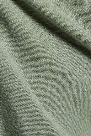 TART COLLECTIONS Nash cutout slub cotton-jersey mini dress