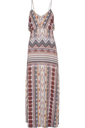 TART Gen layered printed stretch-modal maxi dress