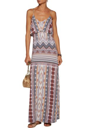 TART COLLECTIONS Gen layered printed stretch-modal maxi dress