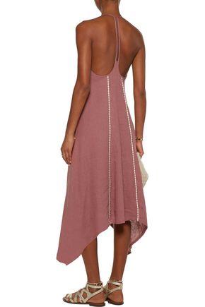 VIX Solid Cleo linen-blend midi dress