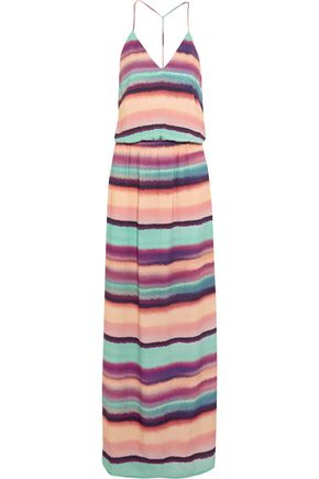 VIX Taysa striped woven maxi dress
