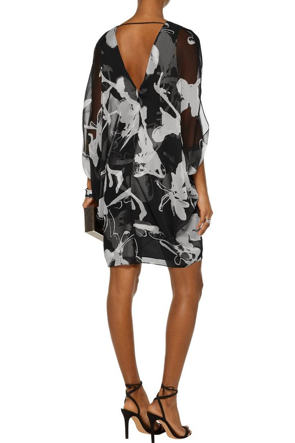 Printed chiffon mini dress | HALSTON HERITAGE | Sale up to 70% off | THE  OUTNET
