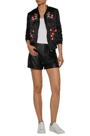 W118 by WALTER BAKER Reid embroidered satin bomber jacket