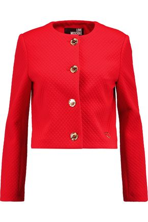 LOVE MOSCHINO Quilted crepe jacket